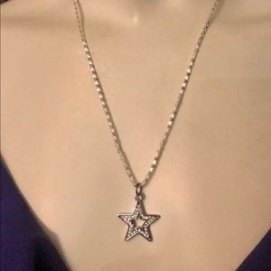Coach Reversible Star .925 Sterling Necklace